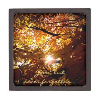 Colorful Autumn Leaves Jewelry Box