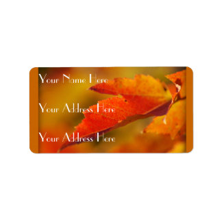 Colorful Autumn Leaves Label