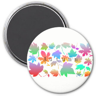 Colorful autumn leaves magnet