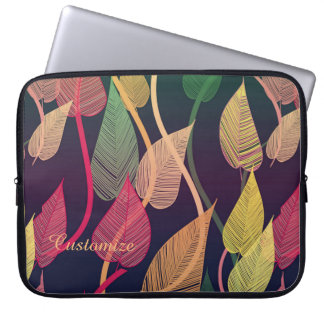 Colorful Autumn Leaves Pattern Laptop Sleeve