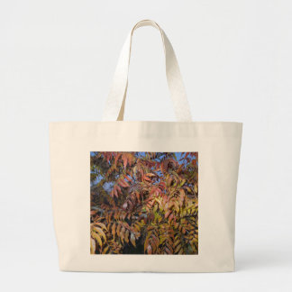Colorful Autumn Leaves, Pinnate Large Tote Bag