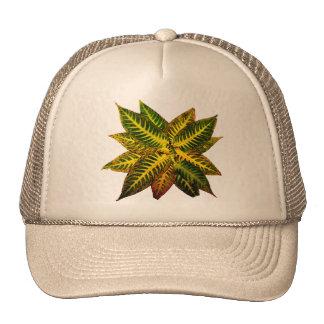 Colorful Autumn Leaves Pinwheel Trucker Hat