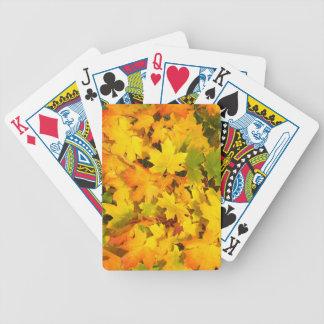 Colorful Autumn Leaves Card Decks