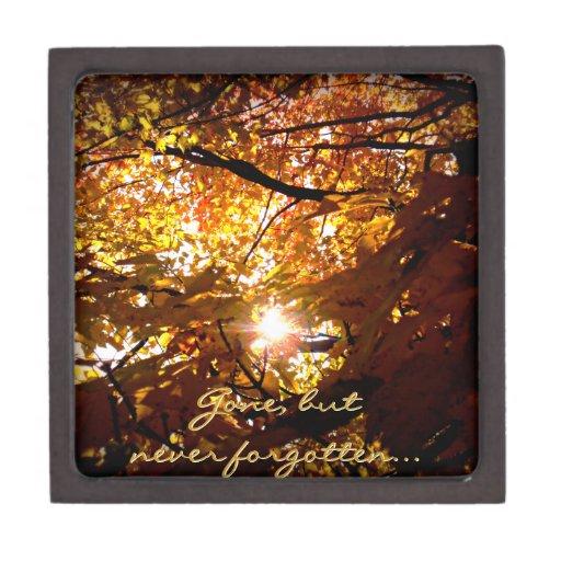 Colorful Autumn Leaves Premium Keepsake Box