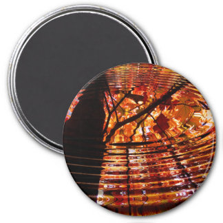 Colorful Autumn Leaves Reflected in Water 3 Inch Round Magnet