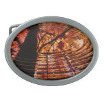 Colorful Autumn Leaves Reflected in Water Belt Buckles