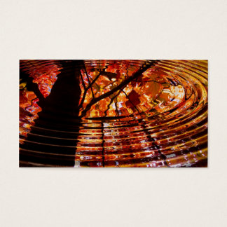 Colorful Autumn Leaves Reflected in Water Business Card