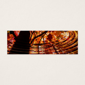 Colorful Autumn Leaves Reflected in Water Mini Business Card