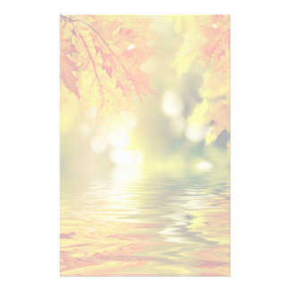 Colorful autumn leaves reflecting in the water 2 stationery