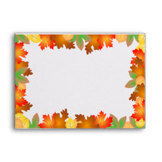 Colorful Autumn Leaves - Thanksgiving Envelope