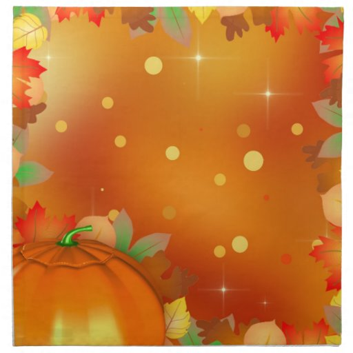 Colorful Autumn Leaves - Thanksgiving Napkin