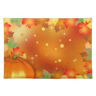 Colorful Autumn Leaves - Thanksgiving Placemat