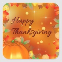 Colorful Autumn Leaves - Thanksgiving Sticker
