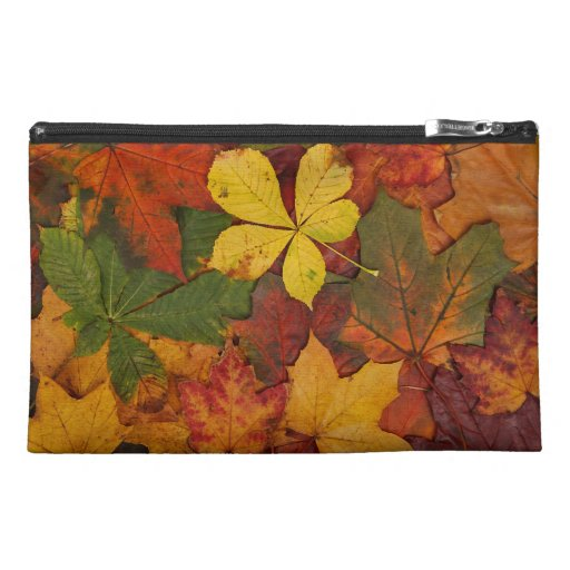 Colorful Autumn Leaves Travel Accessories Bags
