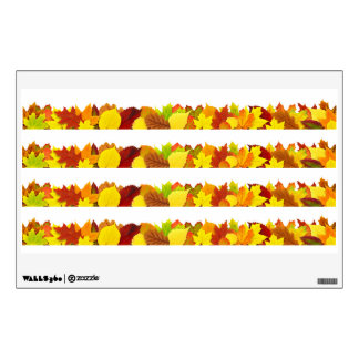 Colorful autumn leaves wall decal