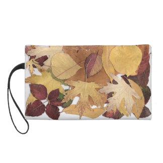 Colorful Autumn Leaves Wristlet