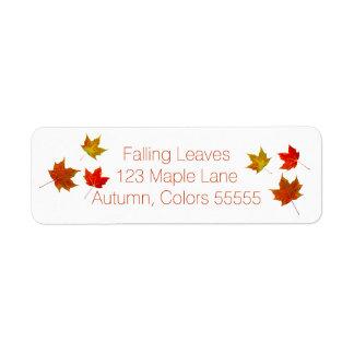 Colorful Autumn Maple Leaves Fall Leaf Splendor Label