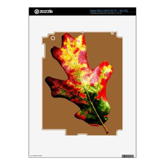 Colorful Autumn Oak Leaf Skin For iPad 3