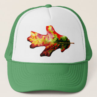 Colorful Autumn Oak Leaf Trucker Hat