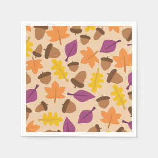 Colorful autumn pattern paper napkin