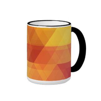 Colorful autumn polygonal design ringer coffee mug