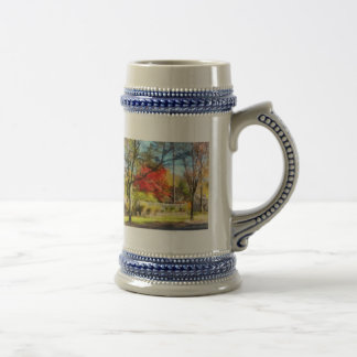Colorful Autumn Street Beer Stein
