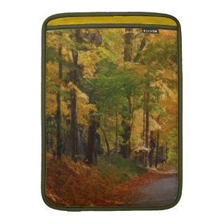 Colorful Autumn Stroll thought the Trees MacBook Sleeve