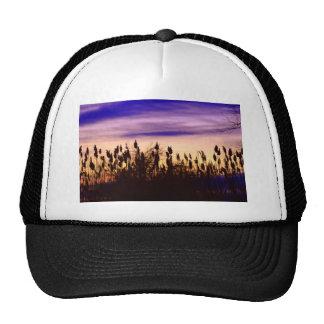 Colorful Autumn Sunset Trucker Hats