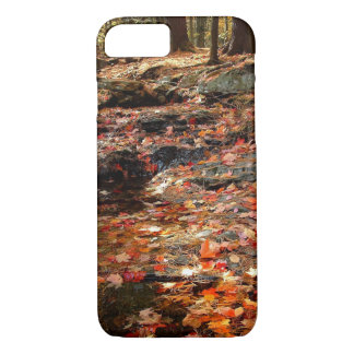 Colorful Autumn Trail in the Poconos iPhone 7 Case