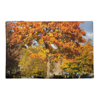 Colorful Autumn Tree Travel Accessory Bags