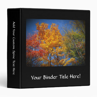 Colorful Autumn Trees Binder