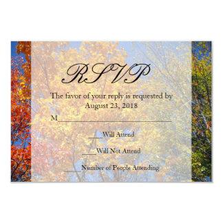 Colorful Autumn Trees Custom Invitation