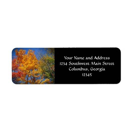Colorful Autumn Trees Return Address Label