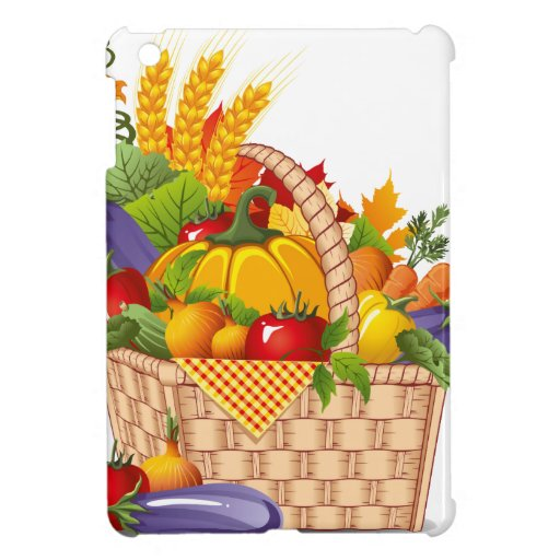 Colorful Autumn Vegetable Basket Cover For The iPad Mini
