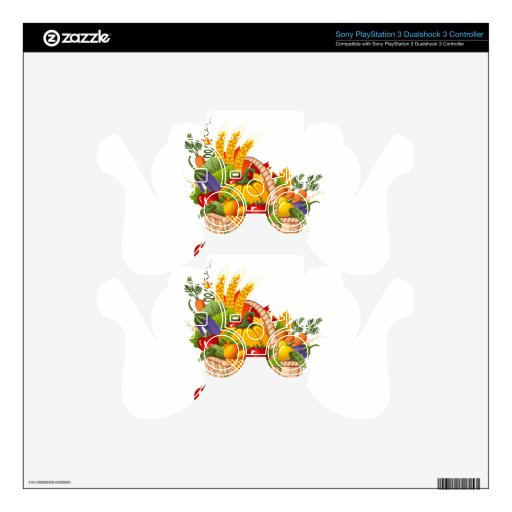 Colorful Autumn Vegetable Basket Skins For PS3 Controllers