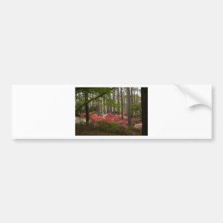 Colorful Azalea Landscape Bumper Sticker