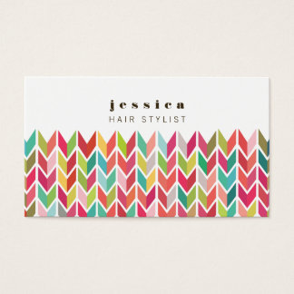 Colorful Aztec Arrows Pattern Hair Stylist Card