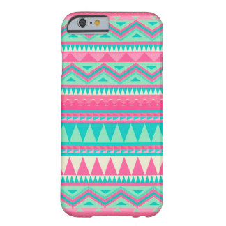 Colorful Aztec Chevron Zig Zag Stripe Pattern Barely There iPhone 6 Case