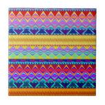 Colorful Aztec Design Ceramic Tile