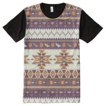 Colorful aztec pattern All-Over-Print shirt