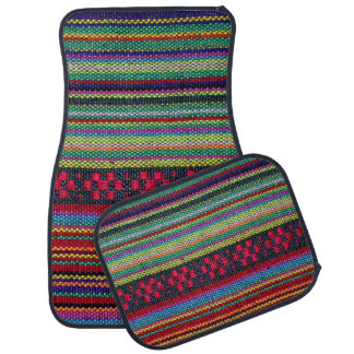 Colorful Aztec Pattern Car Floor Mat