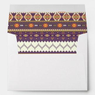 Colorful aztec pattern envelope