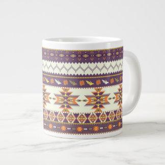 Colorful aztec pattern giant coffee mug