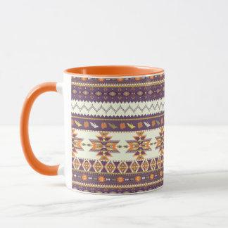Colorful aztec pattern mug