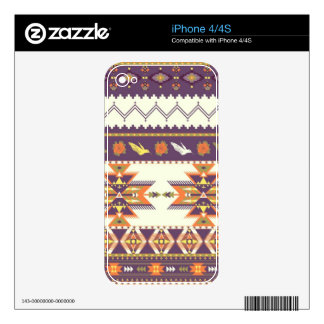 Colorful aztec pattern skin for the iPhone 4