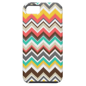 Colorful Aztec Tribal Chevron ZigZag Stripes iPhone 5 Covers