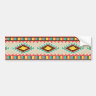 Colorful Aztec Tribal Native American Diamonds Bumper Sticker