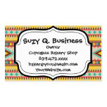 Colorful Aztec Tribal Native American Diamonds Double-Sided Standard Business Cards (Pack Of 100)