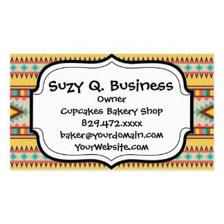 Colorful Aztec Tribal Native American Diamonds Business Card