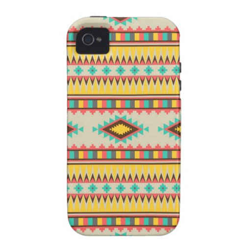 Colorful Aztec Tribal Native American Diamonds iPhone 4/4S Cover